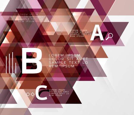 forme: Vector geometric shape background Illustration