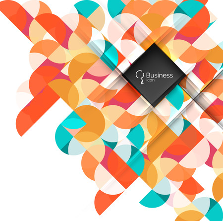 Vector abstract geometric composition Illustration