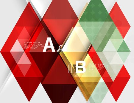 Triangle geometric infographic banner