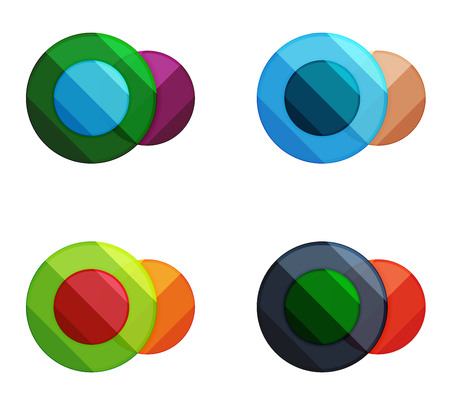 Vector circle banners