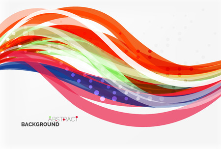 Colorful stripes on light background