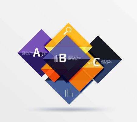 Geometric square and triangle template Illustration