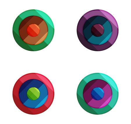 Vector circle banners