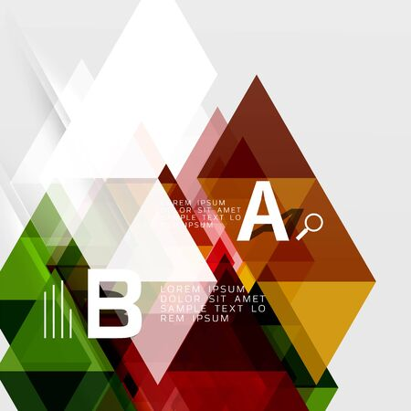 Vector geometric abstract background Illustration