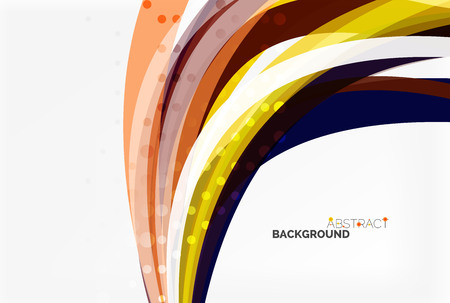 Colorful wave stripes and lines. Vector template background for workflow layout, diagram, number options or web design