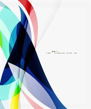 Colorful elegant wave creative layout