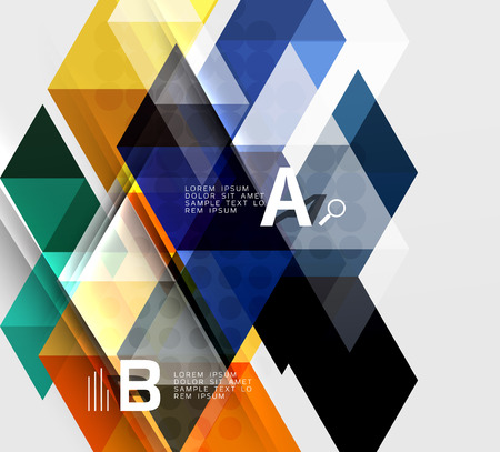 Infographic template - triangle tiles background