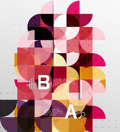 minimalistic: Minimalistic circle geometric abstract background
