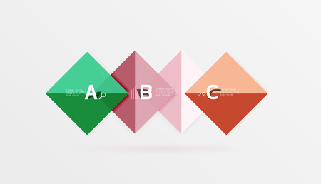 Overlapping square infographics Illustration