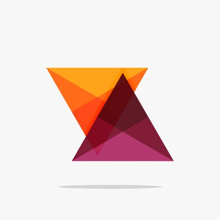 Blank triangle layout business template, infographic background Illustration