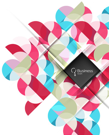 Vector circle and triangle abstract background Illustration