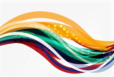 abstract swirl: Colorful wave abstract background