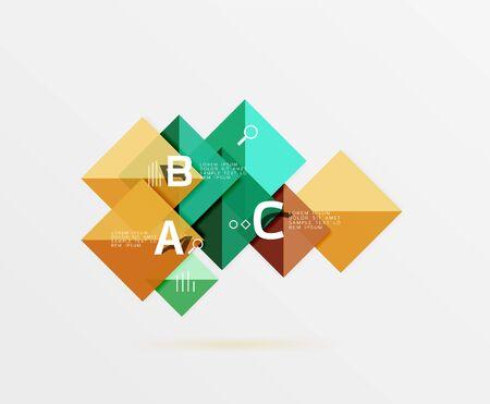 ellipse: Vector square banner Illustration