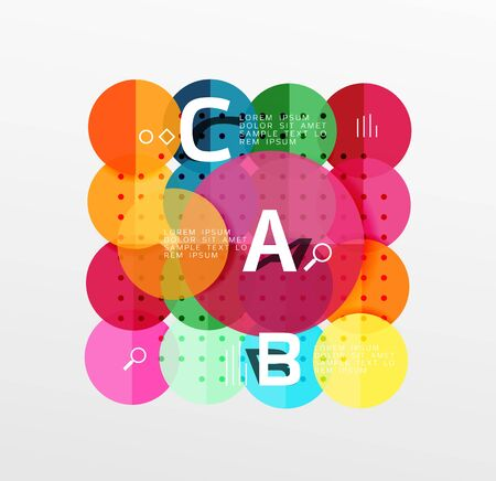 Colorful glossy circle infographics