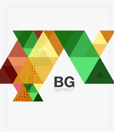 Triangle modern mosaic geometric template Illustration