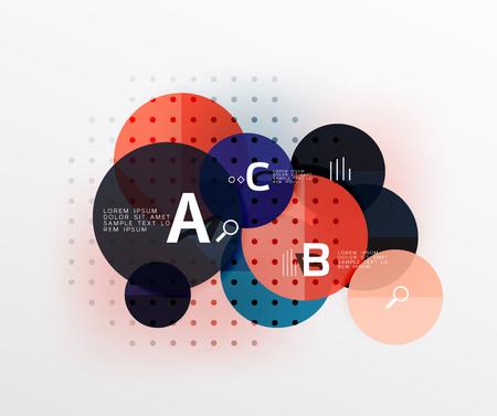 Round modern circle option infographic diagram