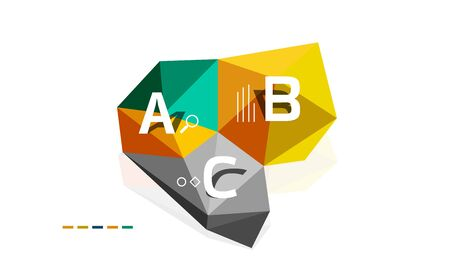 Abstract low poly infographics vector template
