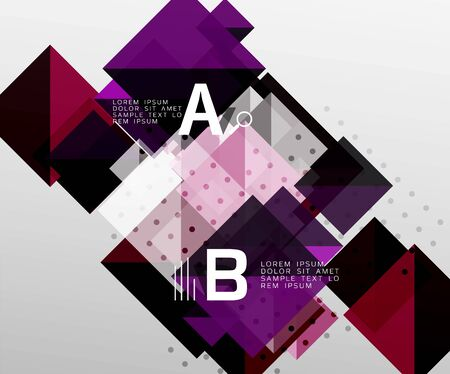 Square abstract background. Vector template background for workflow layout, diagram, number options or web design