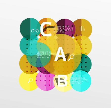 paint can: Vector circle banner. Vector template background for workflow layout, diagram, number options or web design