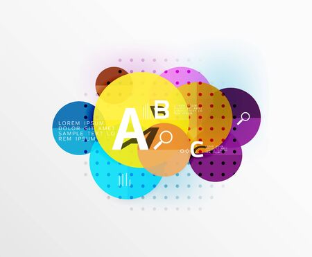 Vector circle banner. Vector template background for workflow layout, diagram, number options or web design
