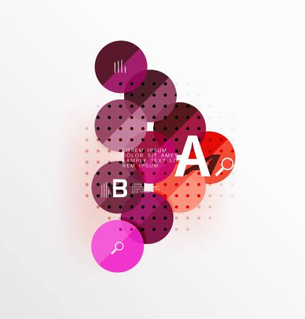 circl: Vector circle banner. Vector template background for workflow layout, diagram, number options or web design