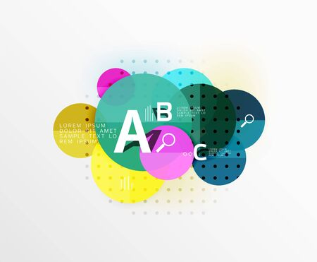 Vector circle bubbles modern geometric background