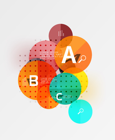 paint can: Colorful glossy circle infographics. Vector template background for workflow layout, diagram, number options or web design