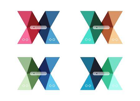 Vector arrow infographics business templates set