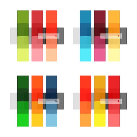 Vector blank stripes and lines infographics templates