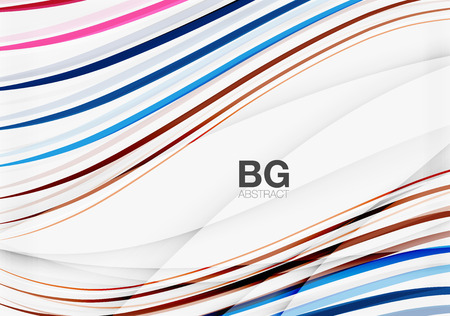 creation of sites: Thin lines wave abstract background Illustration