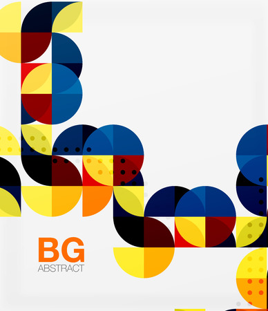 Modern elegant geometric circles abstract background