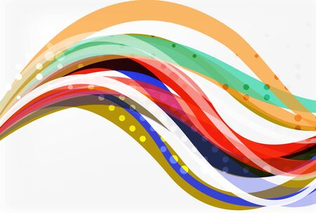Colorful wave stripes and lines Illustration