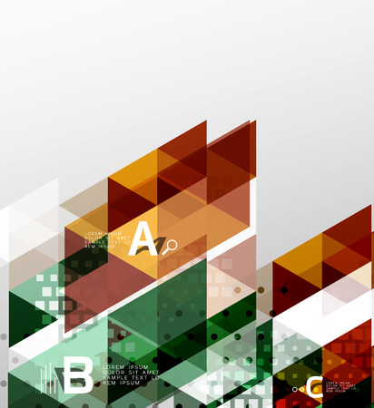 other space: Vector triangle banner Illustration