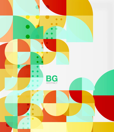 minimalistic: Minimalistic circle composition background Illustration