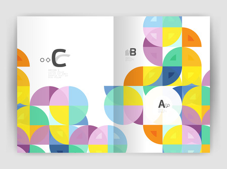 Abstract a4 brochure print template