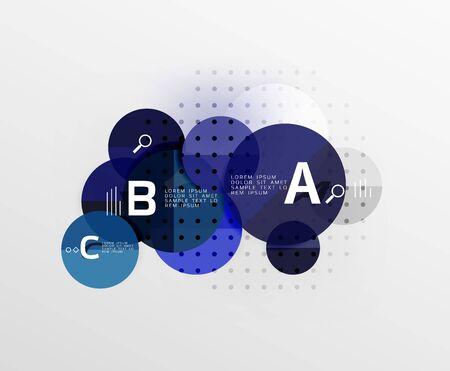 perspectiva lineal: Círculo de fondo abstracto geométrico