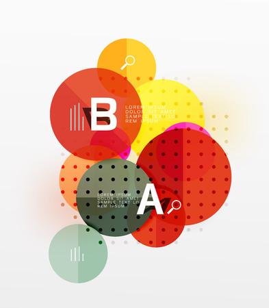 gray dot: Circle geometric abstract background Illustration