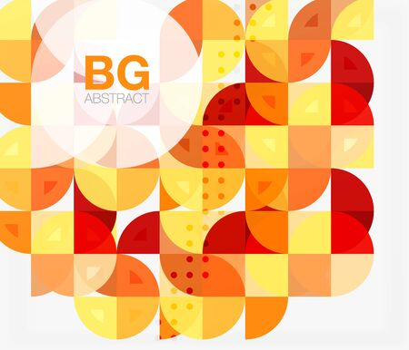 Vector geometric circle abstract background
