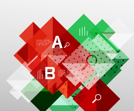 Modern square composition, abstract banner Illustration