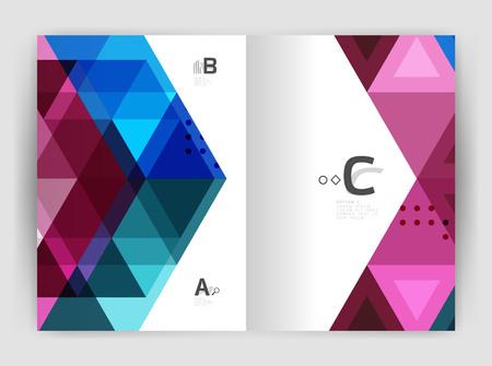 eighties: Modern triangle print template Illustration