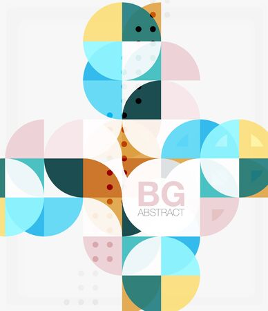Modern elegant geometric circles abstract background