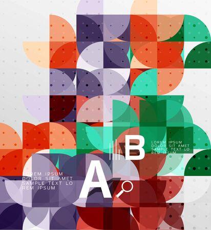 Minimalistic circle geometric abstract background