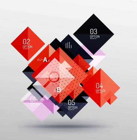 Vector square abstract background Illustration