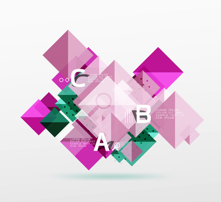 swatch: Modern square composition, abstract banner. Vector template background for workflow layout, diagram, number options or web design