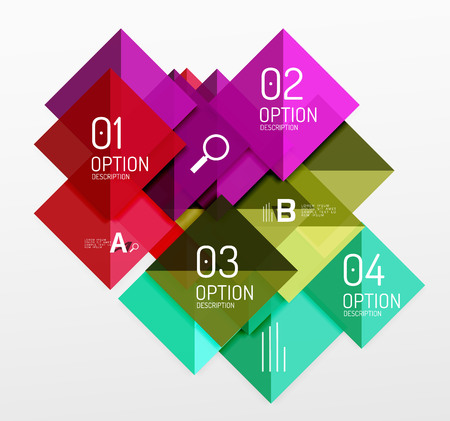 futurist: Modern square composition, abstract banner. Vector template background for workflow layout, diagram, number options or web design