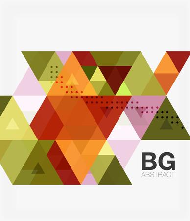Triangle modern mosaic geometric template Illustration