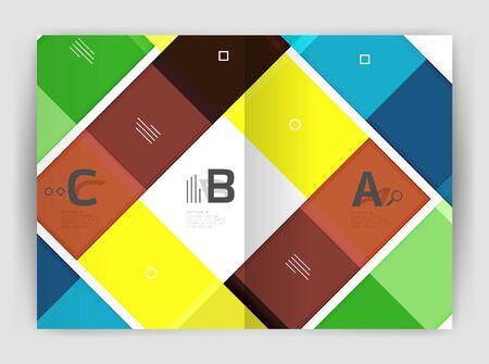 Geometrical brochure a4 business template Illustration