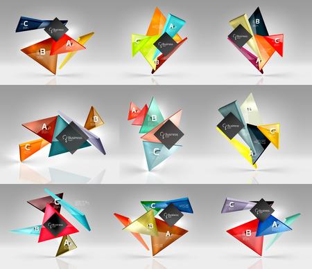 Set of modern geometrical concepts, design elements Illustration