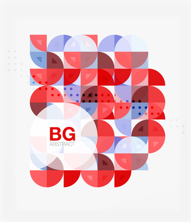 70s: Minimalistic circle composition background Illustration