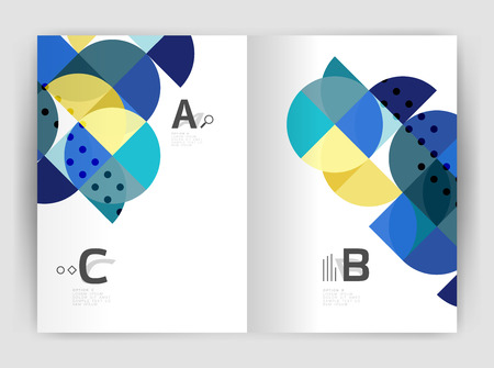 charter: Abstract background with color triangles, annual report print backdrop. Vector design for workflow layout, diagram, number options or web design Illustration